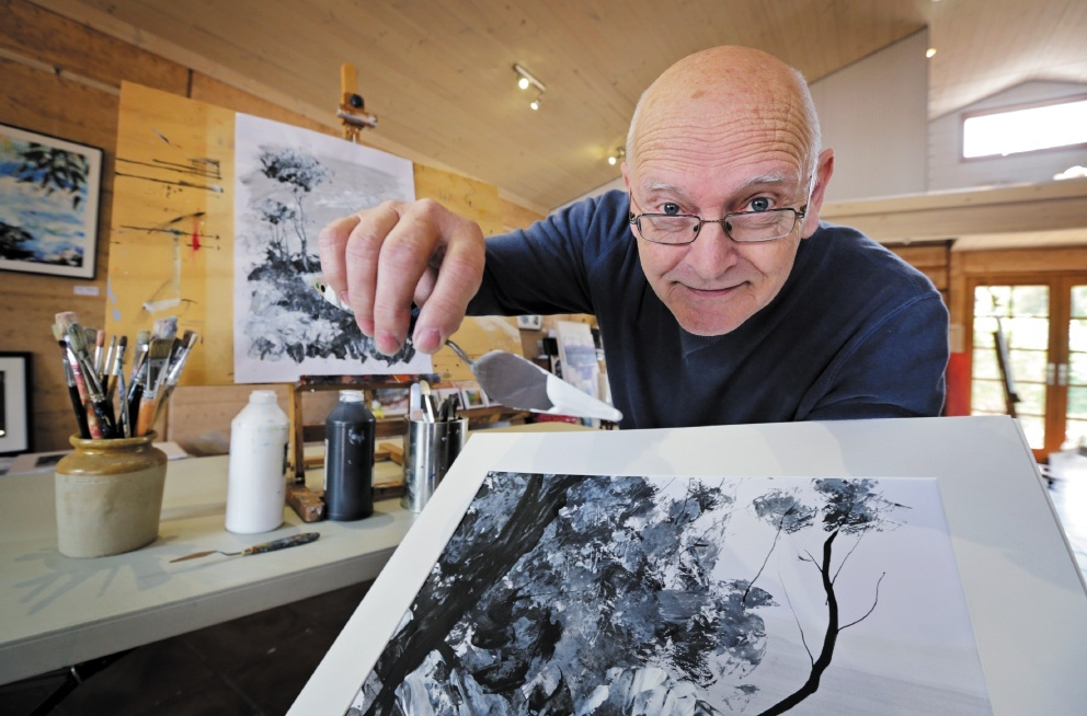 George Hayward of Kalamunda at work in his Hayward Studio. Picture: David Baylis www.communitypix.com.au   d442745