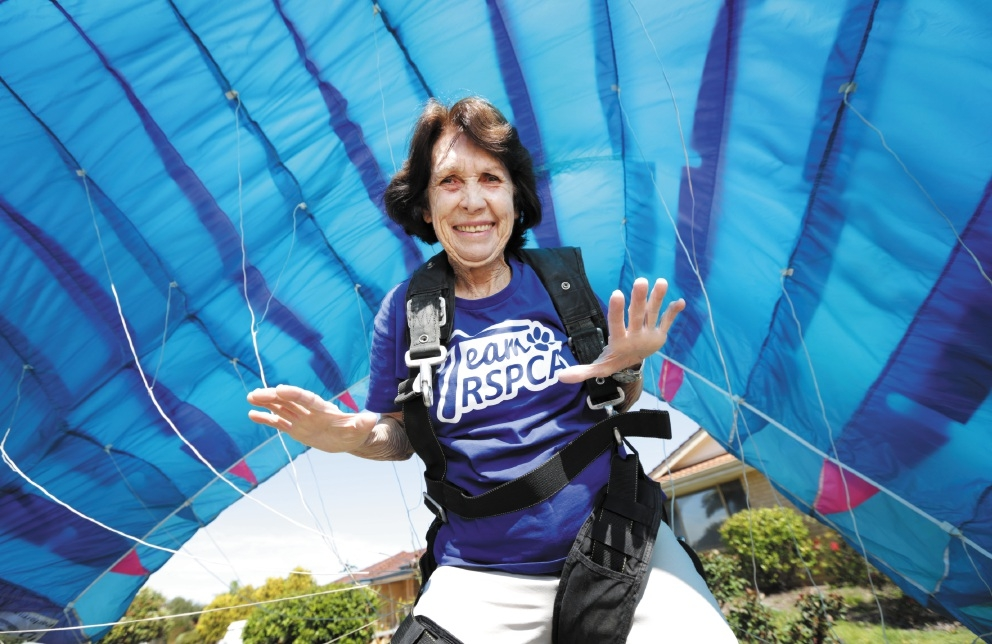 Betty will be skydiving to raise money for the RSPCA WA on World. Photographer: David Baylis d442761