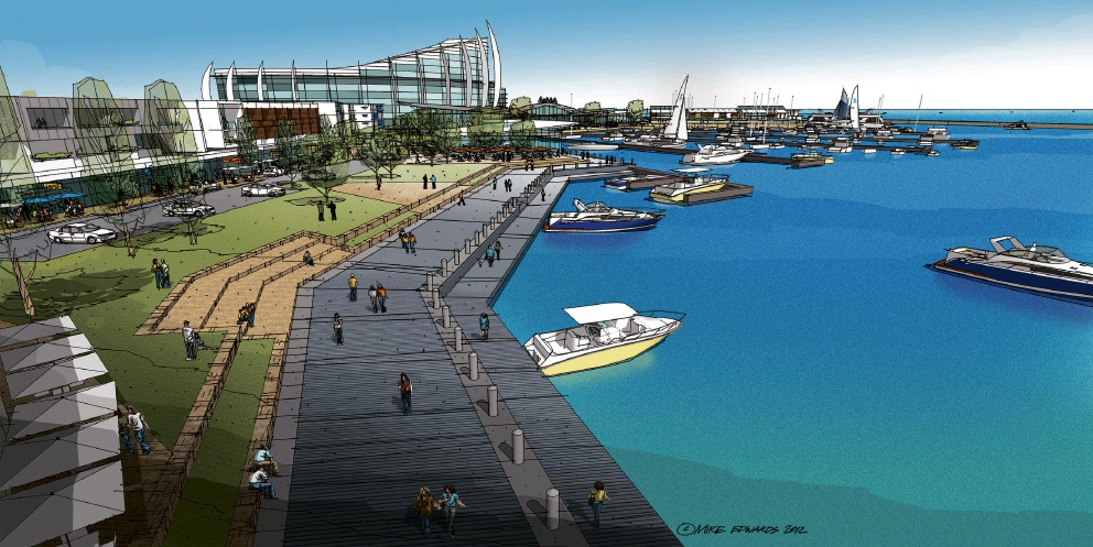 One of the artist's impressions put forward in recent years for the Ocean Reef Marina.