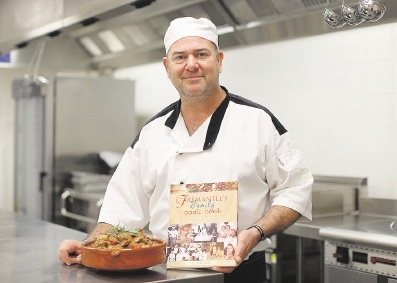 Chef Anthony Farinaccio said he was proud to be involved with the cookbook. Picture: Matt Jelonek www.communitypix.com.au   d442395
