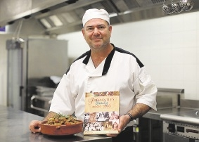 Tony Farinaccio launches the new cookbook.Picture: Matt Jelonek          d442395