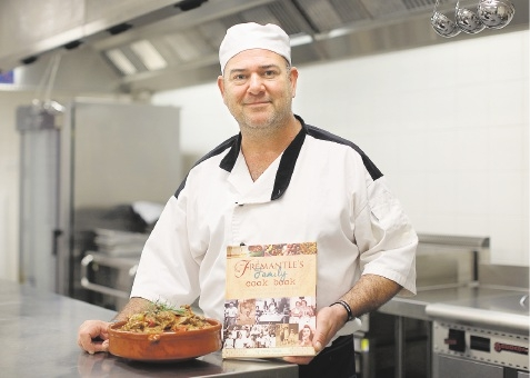 Chef Anthony Farinaccio says the cookbook reflects |Fremantle's rich heritage. Picture: Matt Jelonek d442395