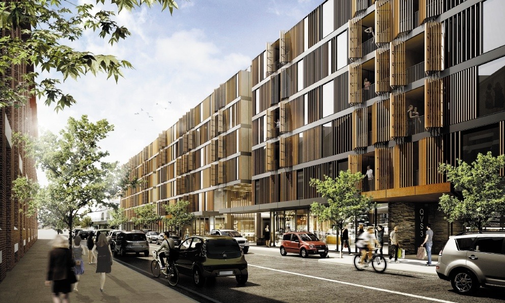 Computer generated image of the planned development on Queen Victoria Street.
