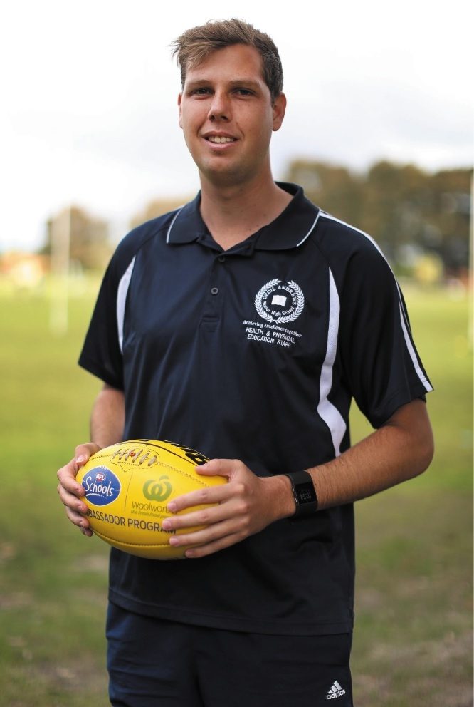 AFL specialist teacher Austin Ward has been named an outstanding ambassador for the sport. Picture: Matt Jelonek d442277