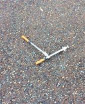 Syringes found near charity bins
