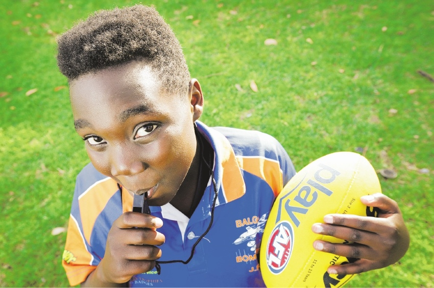 EDMUND Rice Centre Lions protege Bonheur Chubahiro is a triple threat. The 11-year-old joined the centre's multicultural Australian Football League program at the age of eight, became a player of the game and is the captain of the Balga Bombers Football Club. If that was not enough, he has added coaching to his list of talents, making him the youngest African coach to make his AFL debut. Belinda Cipriano has his full story on page 4.