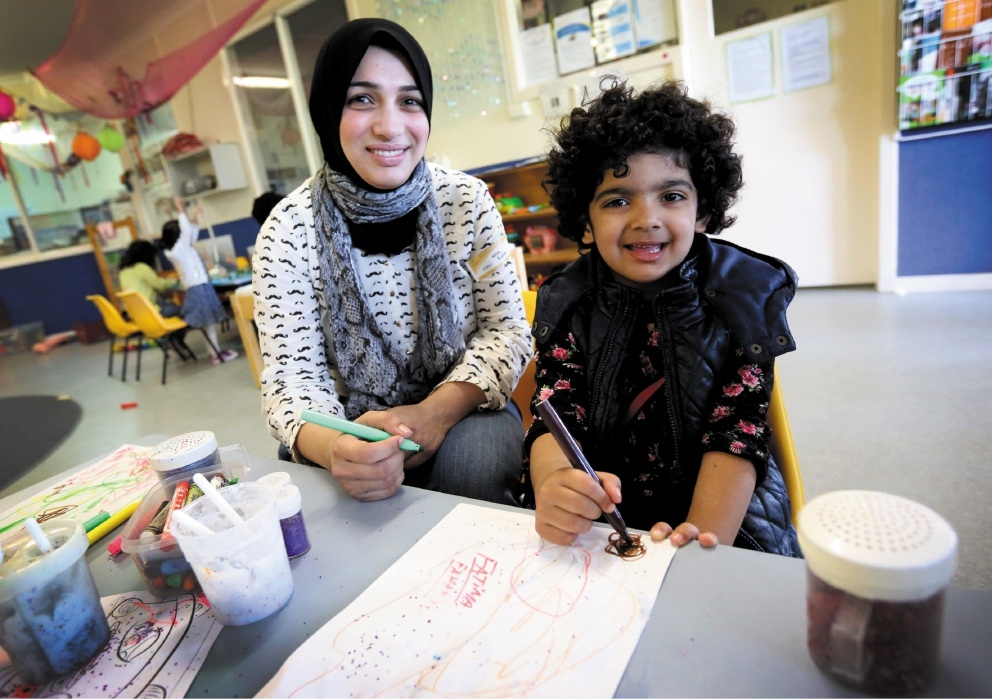Sidra Tahira and Fatima Fahad found friendship, support and acceptance at Communicare. The centre faces closure at the end of the year due to the withdrawal of Federal funding.