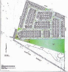 A submitted plan of the housing proposal.