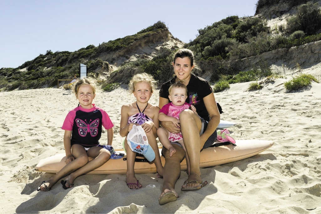 Belinda Nimmo with her daughters Lily, Tia and Indi.