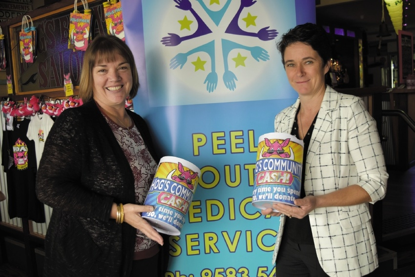 Peel Youth Medical Service program manager Denise Puddick and business development manager Eleanor Britton.