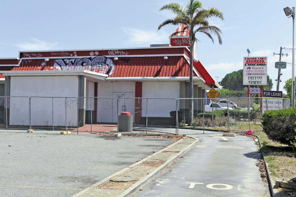 There are plans for a petrol station at the site of this old fast food outlet.