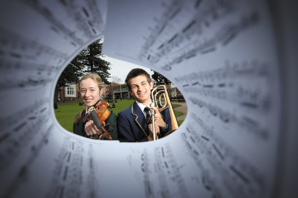 Ciara Sudlow and Henry Louden are looking forward to their musical collaboration. Picture: Andrew Ritchie  www.communitypix.com.au d442194