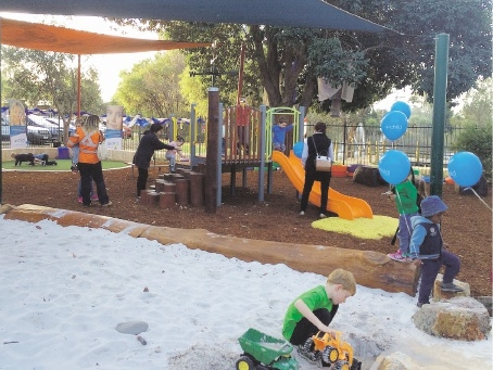 The new playground at Child Australia's Lockridge campus is a hit with children.