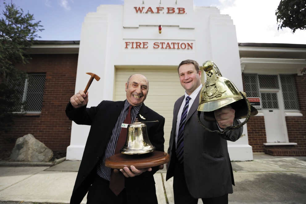 Councillor Gerry Pule and Mayor John Gangell are happy the old fire station has been |heritage-listed. Picture: Andrew Ritchie www.communitypix.com.au   d438812