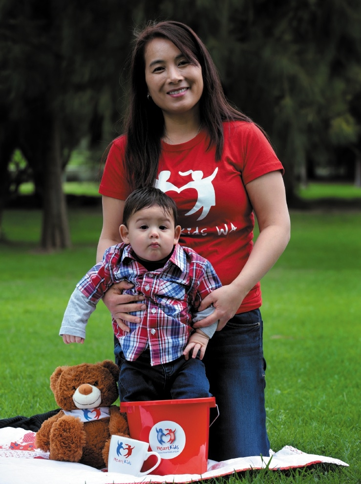 Nina Noble with son Riley (10 months).  Picture: Martin Kennealey  d442181
