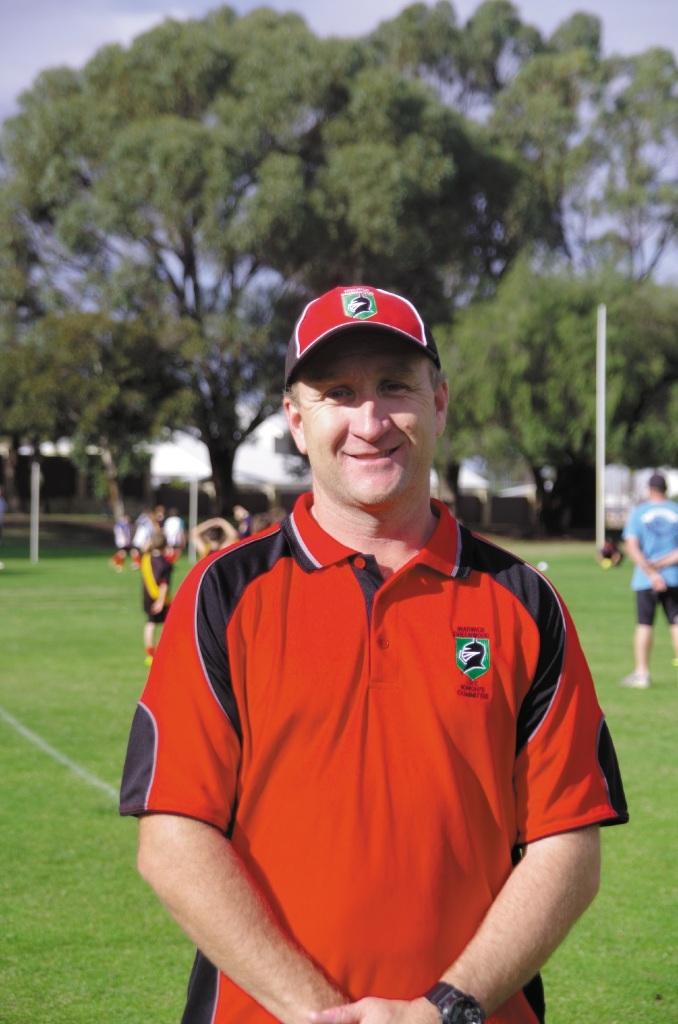 Auskick volunteer Marcus McArthur.