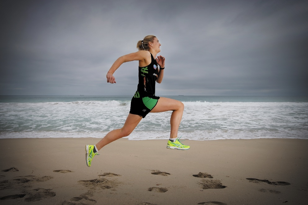 Courtney Bruce will run the 2015 City to Surf to raise funds for Youth Focus. Picture: Andrew Ritchie                     d442129