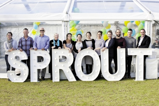 Some community members who attended  Sprout's birthday party