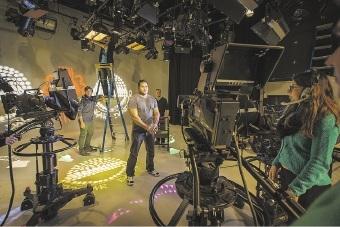Neil Coyne on set as presenter of Noongar Dandjoo.d441661