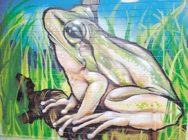 Artwork at Blue Gum Community Centre.