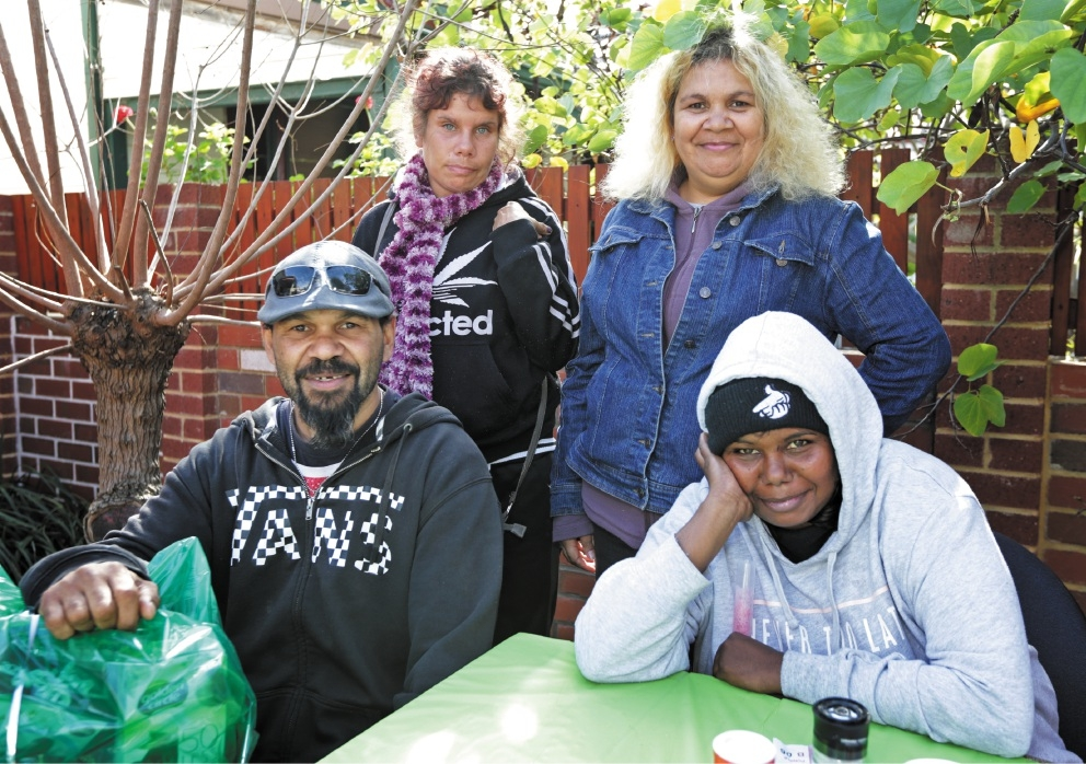 Gavin Clinch, Candice Indich, Cassy Clinch and Kelly Peel. Karnany Aboriginal centre is having a function for Homelessness Prevention Week. Picture: David Baylis  d441334