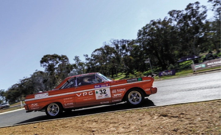 Frank Huber in his 1965 Ford Sprint. Photo: Manolo Photography