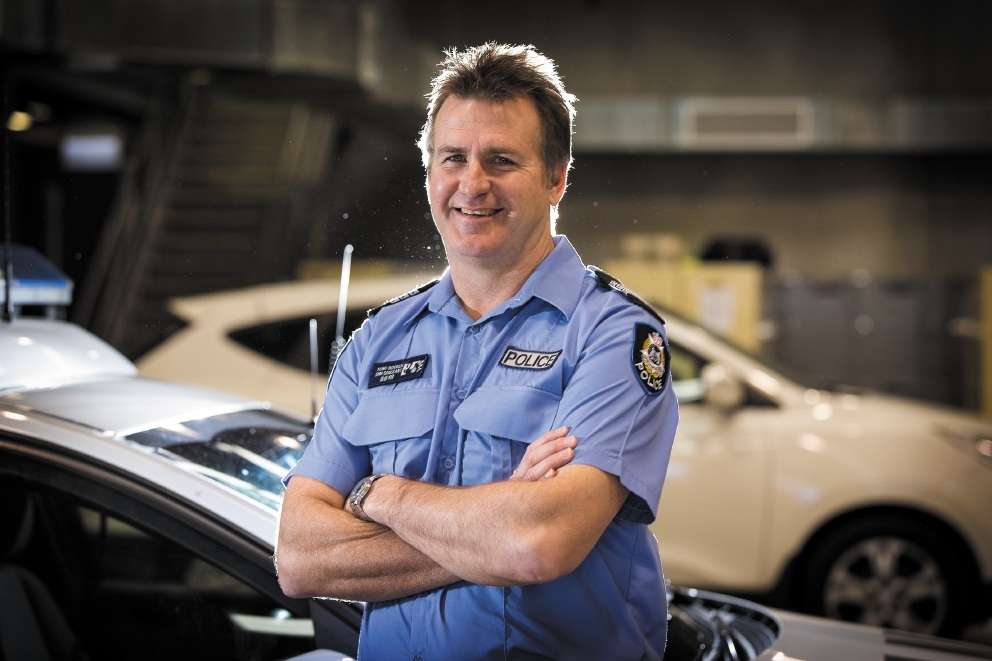 Burglary victim: Snr Sgt Tony Booker.  Picture: Will Russell        www.communitypix.com.au   d441910