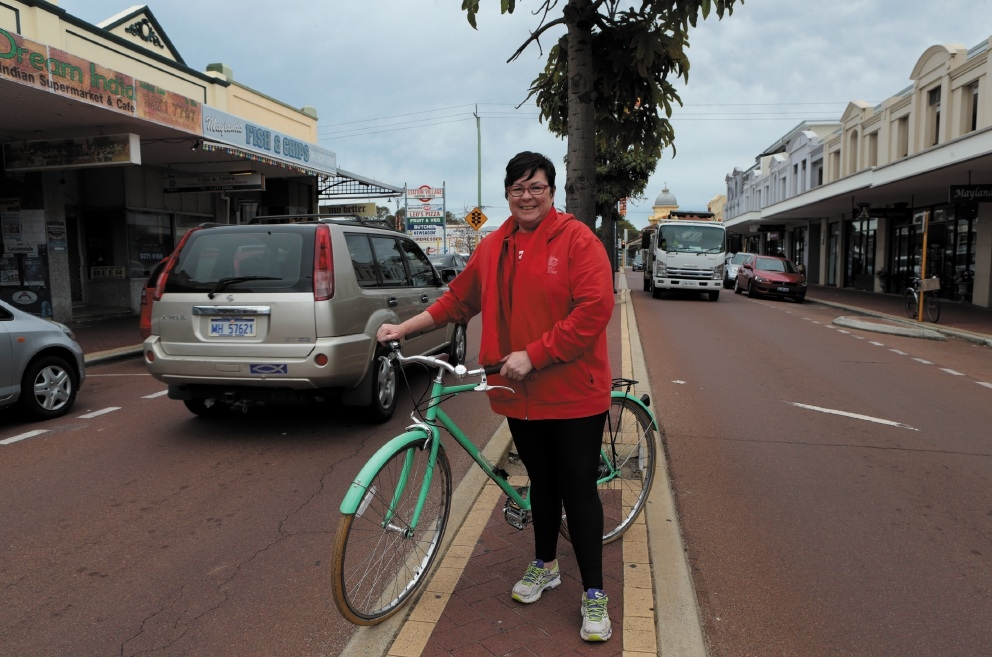 Maylands MLA Lisa Baker is calling for a more bicycle-friendly City.Picture: Martin Kennealey        www.communitypix.com.au   d441701