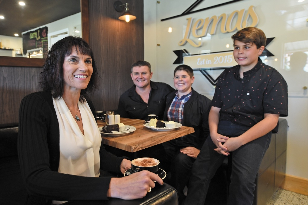 Lemas owners Tania Male with husband Paul and sons Ryan and Travis.  Picture: Jon Hewson   d440601