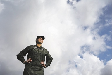 Tamara Mertens wants to be the first female fighter pilot.Picture: Andrew Ritchie    d441613