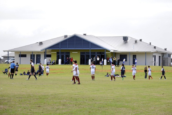 Junior soccer was on show as a backdrop to the opening of the Bramston Park facility on Saturday.