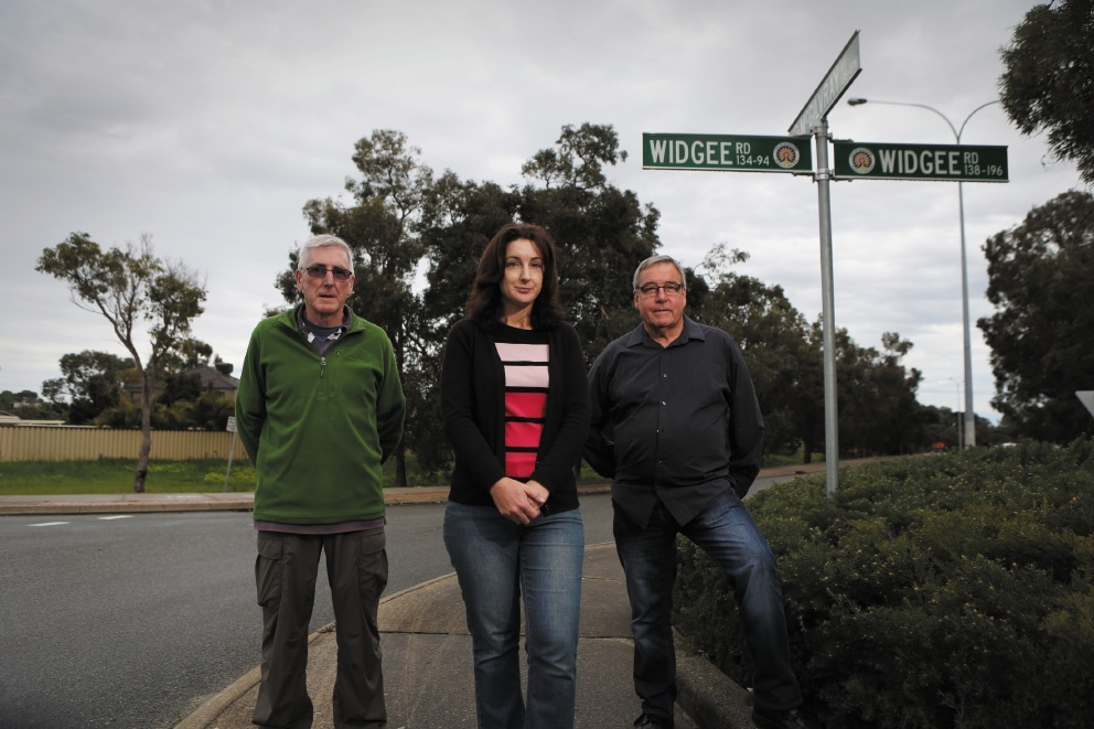 Noranda Action Group members (from left) Doug McLennan, Helen Kayes and Rob Davey. Picture: Andrew Ritchie          d441343