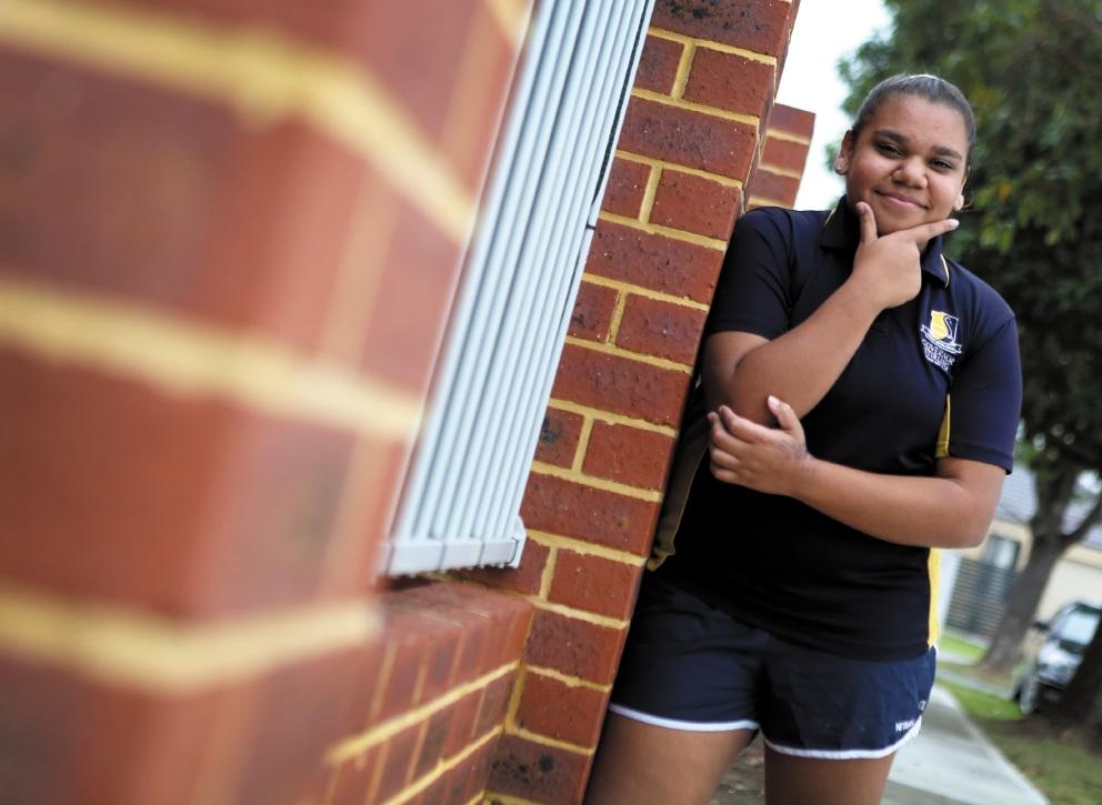 Aboriginal teenager Grace Holmes. Picture: Matt Jelonek www.communitypix.com.au   d441467