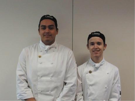 Apprentice chefs Hayden Bilton and Brody Young-Steedman.