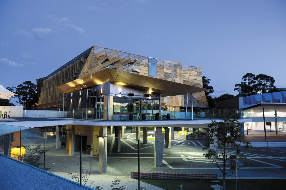 The award-winning Ngoolark building at ECU Joondalup.