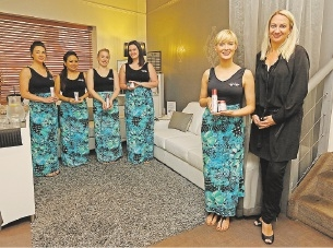 Cove Spa proprietor Jocelyn Derecourt, far right, with staff Mary Nolan, Susan Ngenge, Angela Fitzgerald, Ashleigh Donkin and Kerry Quinn. |Picture: Matt Jelonek    d437827