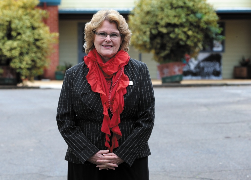 Deputy principal Wendy Camenzuli  outside Toodyay District High School. Picture: Martin Kennealey.d441419