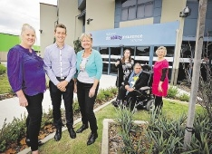 Delia Richardson, Joshua Marocchi, Stephanie Iredell, Grace King, Frank Maltese and Kerry Allan-Zinner welcome the NDIS.