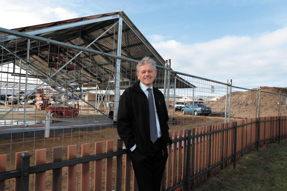 New Alkimos Primary School principal Andy Gorton at the site of the new school for 2016. Picture: Martin Kennealey d439859