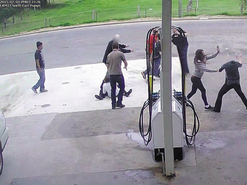 Petrol station owner punched; hit