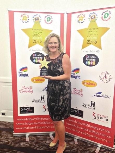 Award winner Claire Eaton.