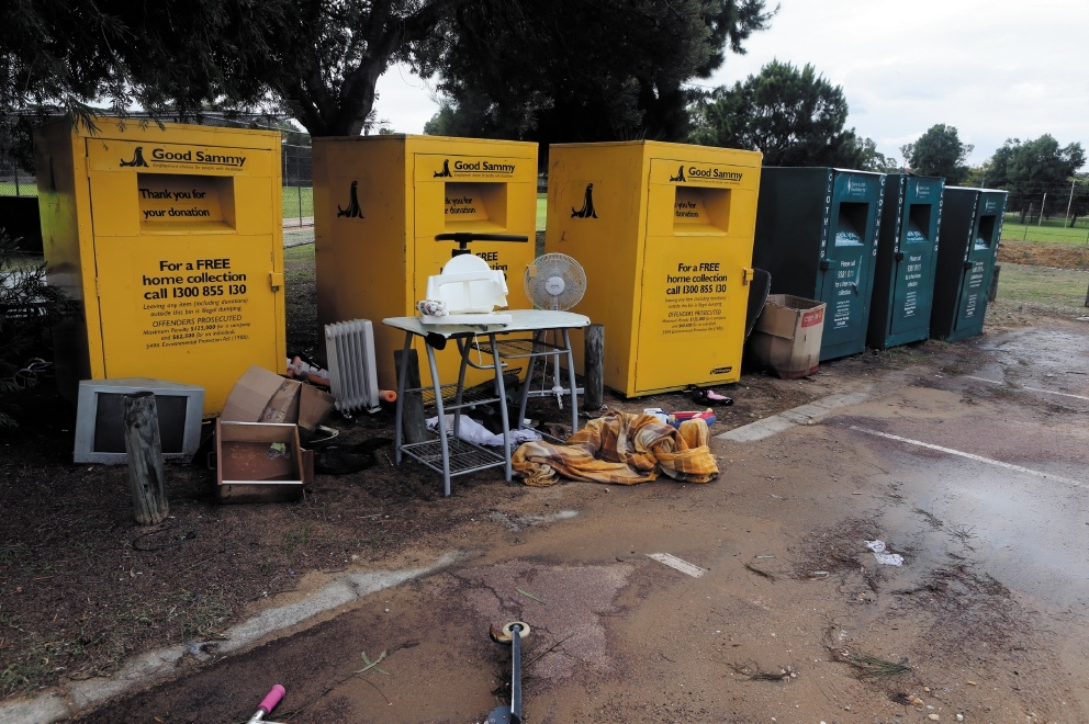 Charity clothing bins will not be allowed on public land.