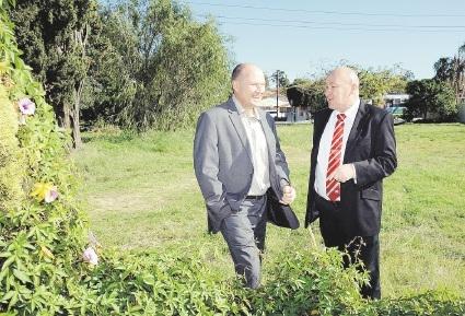 Housing Minister Colin Holt and Defence Housing Australia's Mark Turtle signed a memorandum of understanding in Perth last week. Picture: Jon Bassett