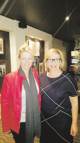 Founder of angelhands Ann O'Neill at the National Press Club earlier this month with Rosie Batty.