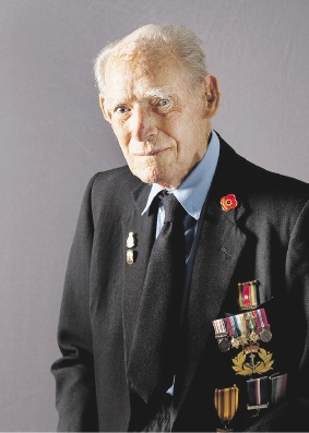 Joseph Stenson took part in a photographic project featuring World War II veterans. Picture: Lynn Gail