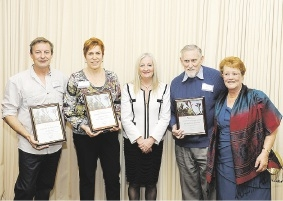Stefan Bolz, Dorrit De Nooy, Mayor Tracey Roberts and Ken and Anke Rowland.