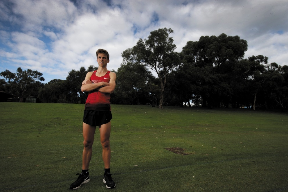 Year 12 student Ben Chamberlain is excited to be making his debut in the Commonwealth Youth Games in September.  Picture: Andrew Ritchie        www.communitypix.com.au   d436331