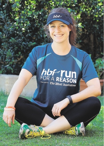 Darcie Milan will take part in her first Run for a Reason next month. Picture: Martin Kennealey          d436535