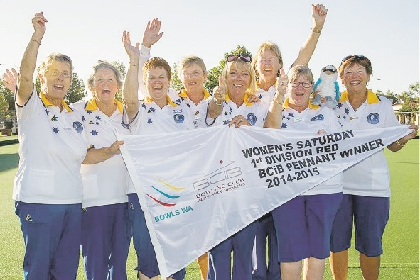 The Ladies Division 1 team celebrates the end of a great |season at Gosnells Bowling Club