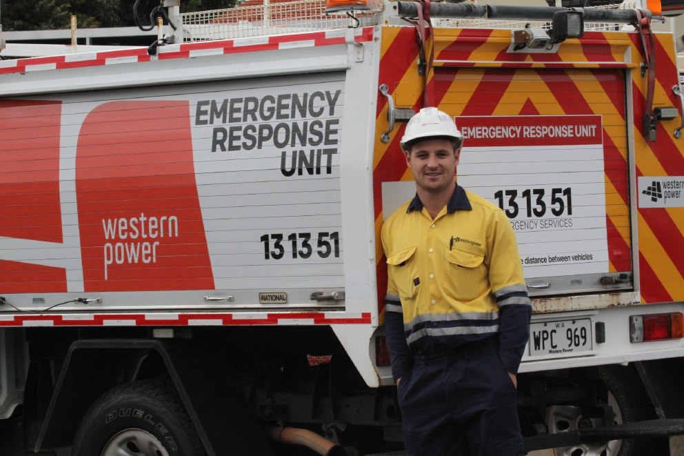 Marc Crisp is the face of Western Power's safety campaign.